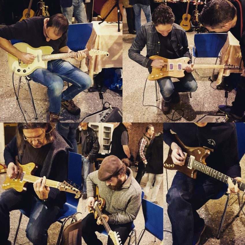 Testing Fab Guitars @ Oldenburg Vintage Guitar Show 2016